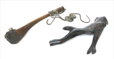 Lot 9 - A South East Asian bone pipe