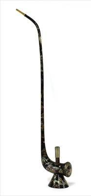 Lot 41-A Japanese lacquered and mother-of-pearl inlaid water pipe
