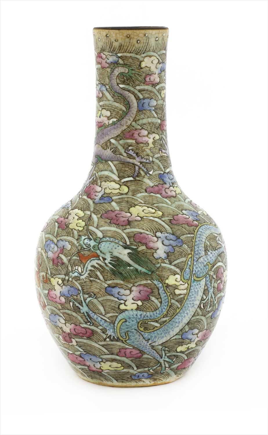 Lot 21-A Chinese famille rose vase