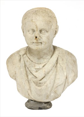 Lot 29-An Italian carved marble bust of an emperor