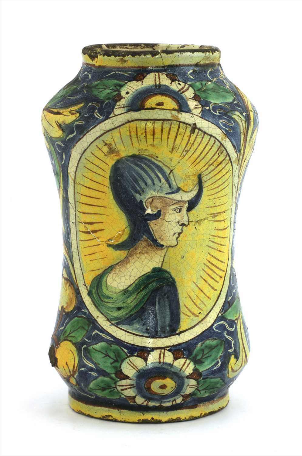 Lot 2-An Italian majolica albarello jar