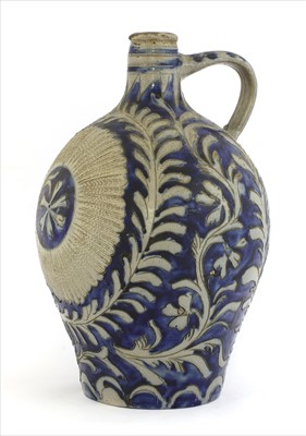Lot 4-A German salt-glazed flagon