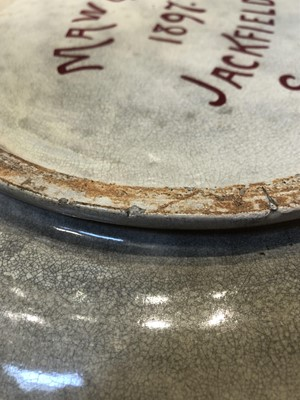 Lot 151 - An earthenware lustre charger by Maw & Co, Jackfield