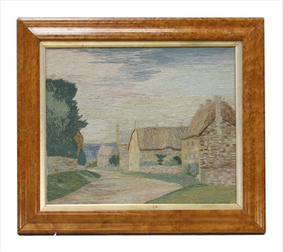 Lot 46-A wool work picture