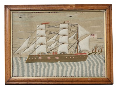 Lot 45-A wool work picture
