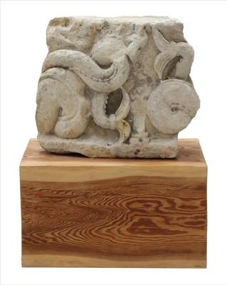 Lot 40-A limestone fragment