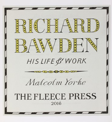 Lot 15-Richard Bawden: His Life and Work