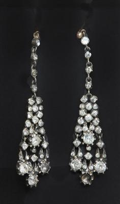 Lot 6-A pair of early 20th century Georgian style girandole paste drop earrings