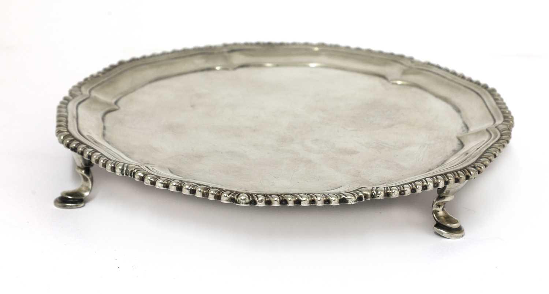 Lot 17-A George III silver waiter