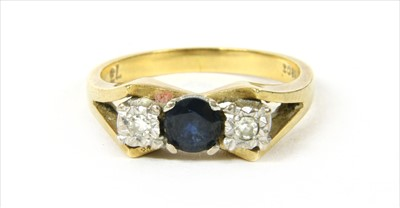 Lot 13-A gold sapphire and diamond ring