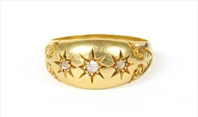 Lot 5-An 18ct gold diamond ring