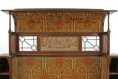 Lot 182 - A Liberty & Co. mahogany settle