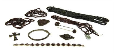 Lot 12-A quantity of assorted Victorian and later bohemian garnet jewellery