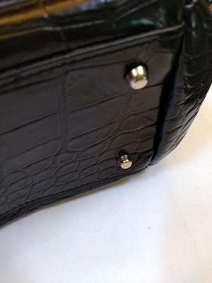 Lot 1014-A Furla crocodile embossed patent leather tote bag