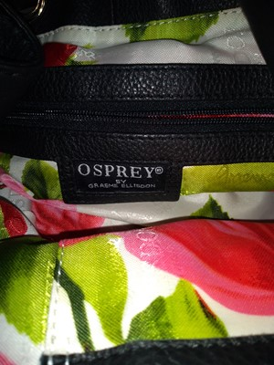 Lot 1011-An Osprey black drawstring tote, by Graeme Ellison