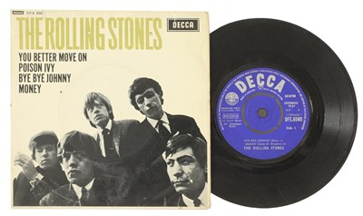 Lot 536 - A signed Rolling Stones EP