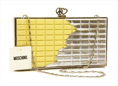 Lot 1024-A Moschino 'white chocolate' clutch bag