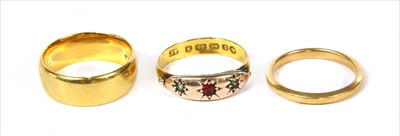 Lot 25 - Two 22ct gold wedding rings