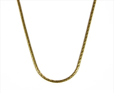 Lot 35-A 9ct gold necklace