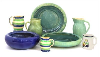 Lot 411 - Five Ashtead Potters' jugs and a mug