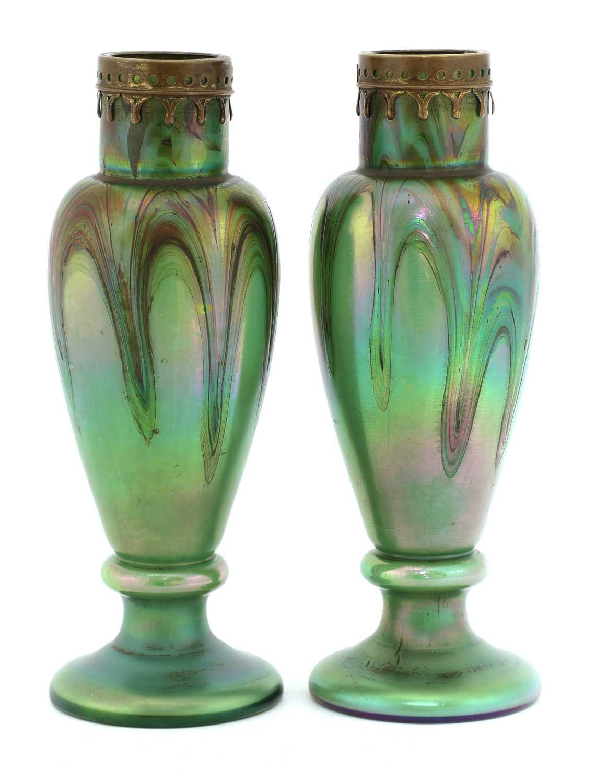Lot 95 - A pair of Rindskopf vases