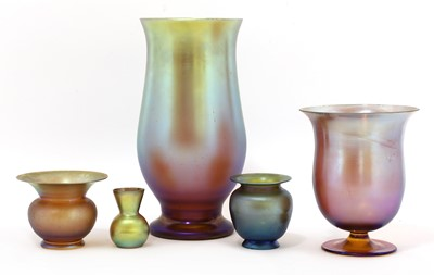 Lot 103 - A collection of WMF Myra glass vases