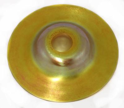 Lot 104 - A Steuben gold 'Aurene' glass dish