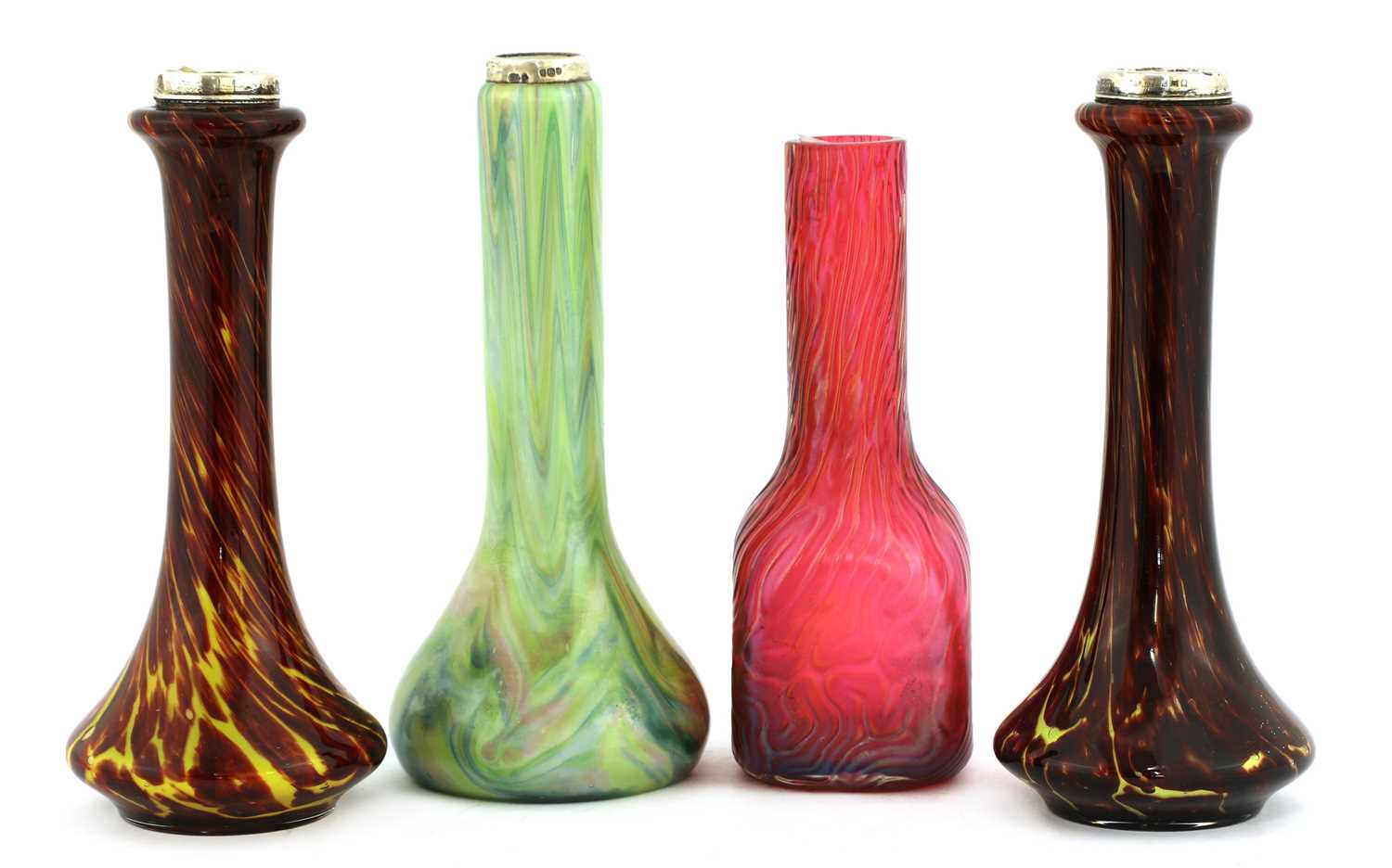 Lot 92 - A pair of Franz Welz glass vases