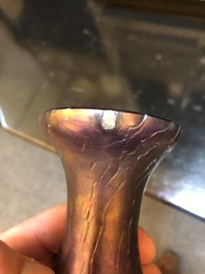 Lot 99 - A Kralik glass vase