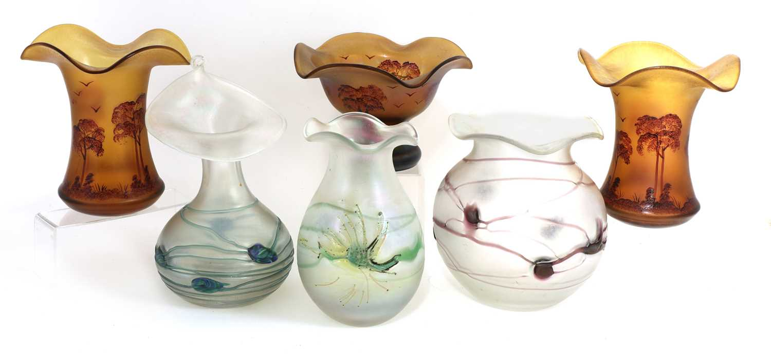 Lot 91 - A collection of Poschinger glass vases