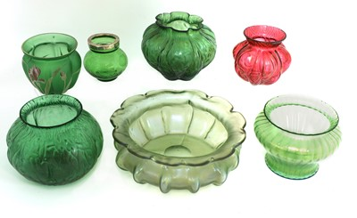 Lot 98 - A collection of Bohemian glass