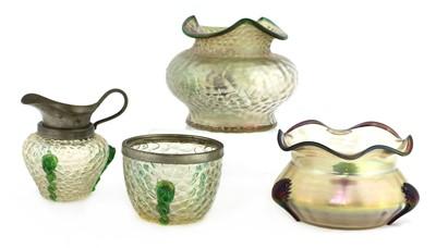 Lot 99 - A Kralik 'Martelé' glass vase