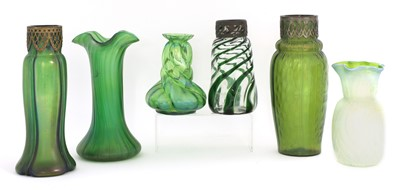Lot 100 - A collection of Bohemian glass vases