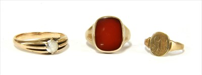 Lot 4-Three gold rings