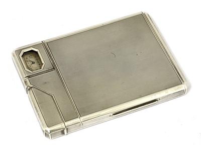 Lot 74 - A rare silver combination cigarette case