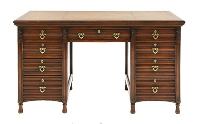 Lot 69 - A walnut desk