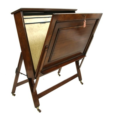 Lot 171 - A walnut folio stand