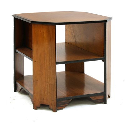 Lot 45 - An Art Deco walnut and calamander book table