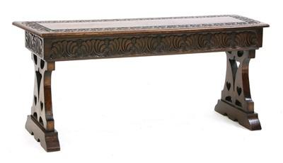 Lot 9-An Arts & Crafts oak bench