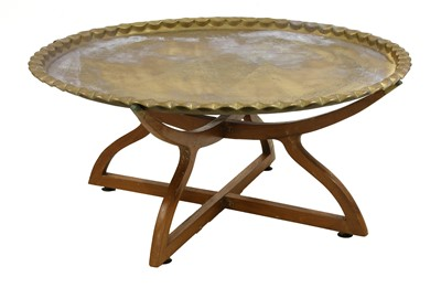 Lot 80 - A brass top table