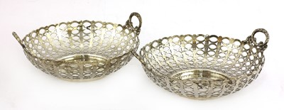 Lot 71 - A pair of pierced silver baskets
