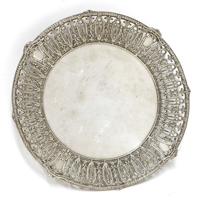 Lot 83 - An American silver pierced and footed dish