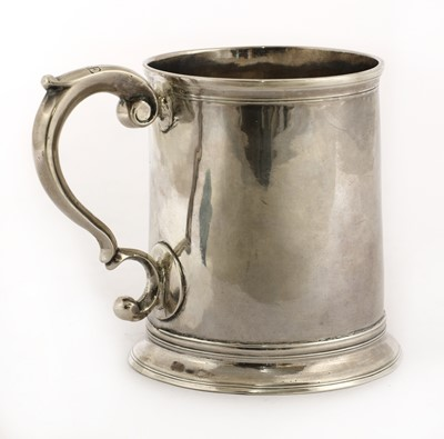 Lot 13-A George II silver mug