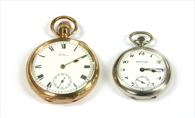 Lot 16-A rolled gold Waltham open-faced pocket watch