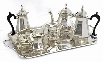 Lot 56 - An extensive George V hallmarked silver tea and coffee set