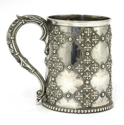 Lot 64 - A Victorian silver mug