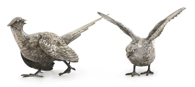 Lot 72 - A pair of silver pheasants