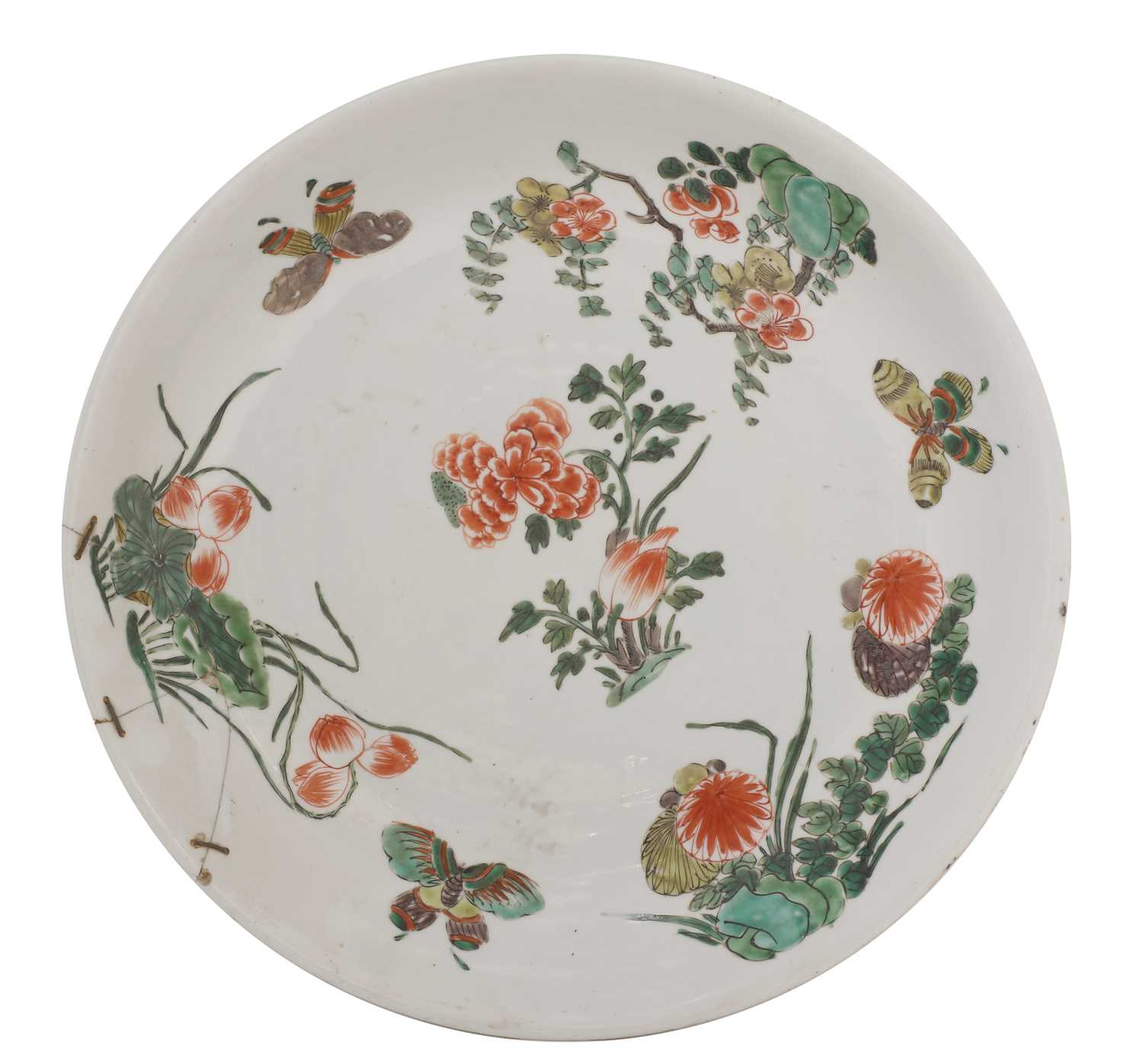 Lot 9-A Chinese famille verte charger