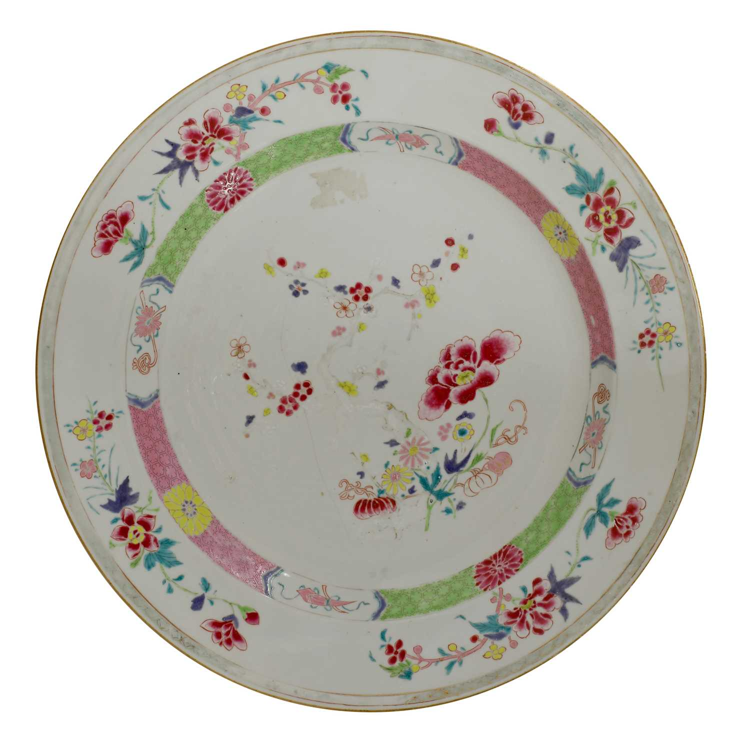 Lot 19-A Chinese famille rose charger