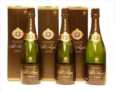 Lot 33-Pol Roger, Extra Cuvée de Reserve, 1999, three bottles (each boxed)